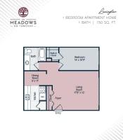 Lexington printable floor plan at The Meadows on Thirteen in Roseville, Michigan