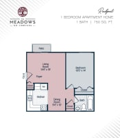 Rockport printable floor plan at The Meadows on Thirteen in Roseville, Michigan