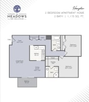 Hampton printable floor plan at The Meadows on Balfour in Harper Woods, Michigan