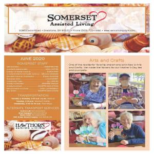 June newsletter at Somerset Assisted Living in Gladstone, Oregon