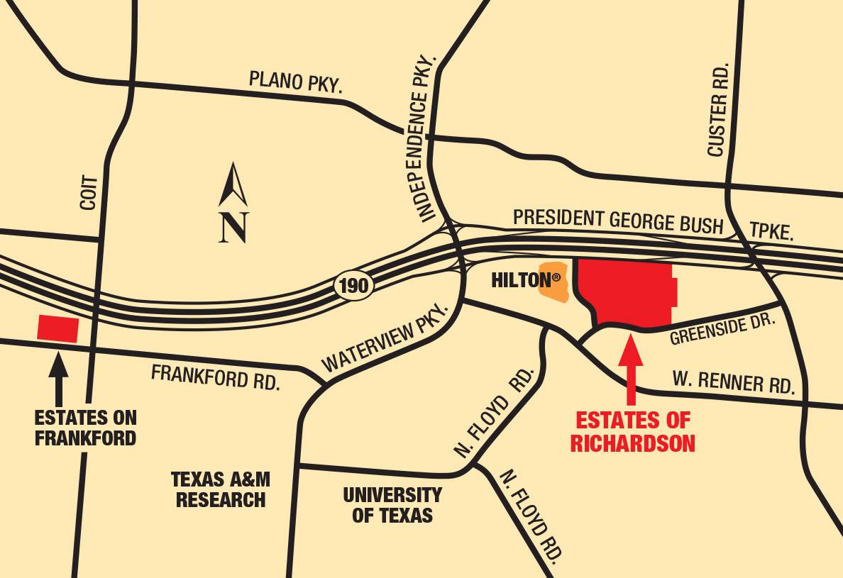 Map of Estates of Richardson