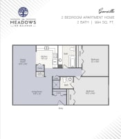 Granville printable floor plans at The Meadows on Balfour in Harper Woods, Michigan