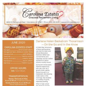 June newsletter at Carolina Estates in Greensboro, North Carolina