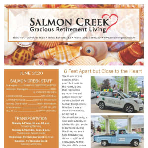 June newsletter at Salmon Creek in Boise, Idaho