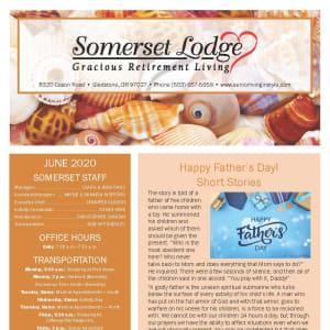 June newsletter at Somerset Lodge in Gladstone, Oregon