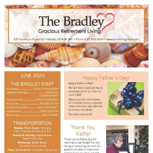 June newsletter at The Bradley Gracious Retirement Living in Kanata, Ontario