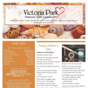 June newsletter at Victoria Park Personal Care Home in Regina, Saskatchewan