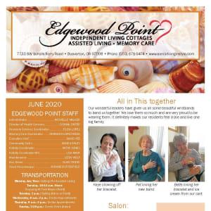 June Edgewood Point Assisted Living newsletter