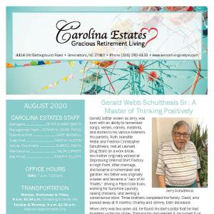 August Carolina Estates newsletter
