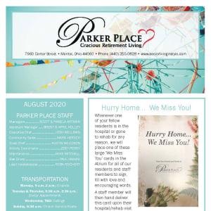 August Parker Place newsletter