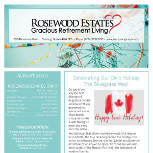August Rosewood Estates newsletter