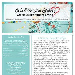 August Scholl Canyon Estates newsletter