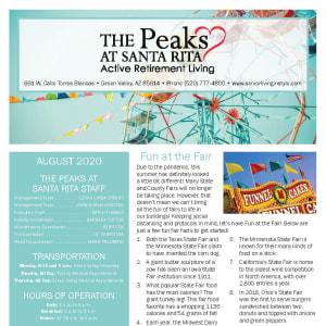 August The Peaks at Santa Rita newsletter