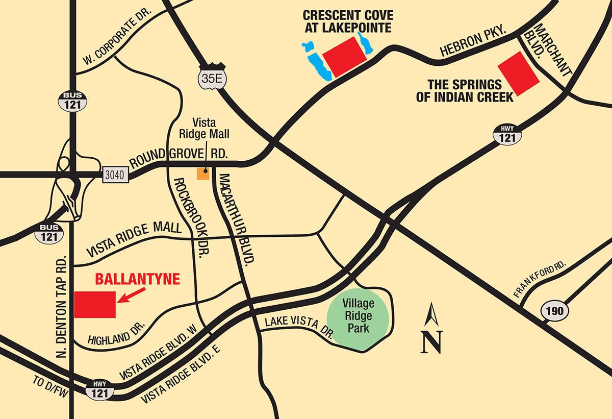 Map of Ballantyne Apartments