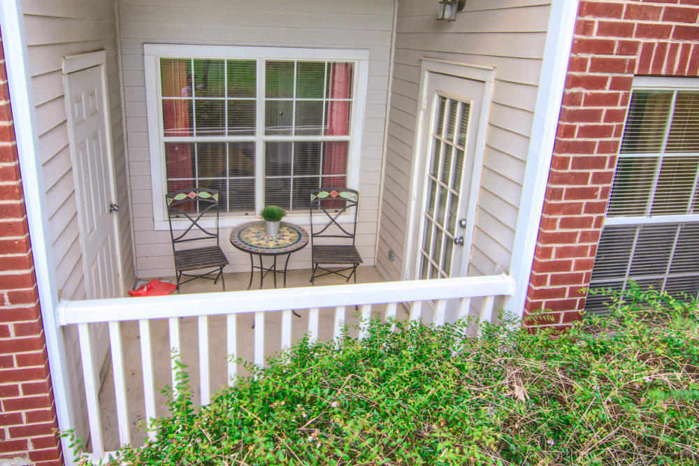 Private balcony at apartments in Cordova, Tennessee