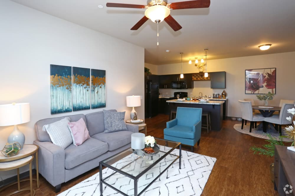 Living Room at Springs at Canterfield