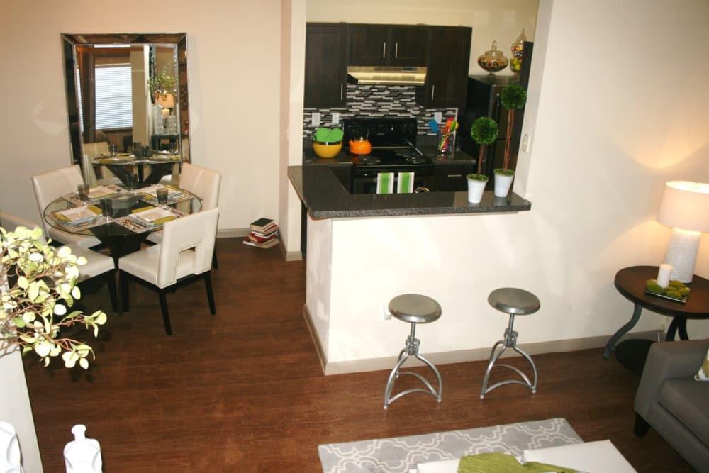 Luxury kitchen at The Parq on the Boulevard in San Antonio, Texas