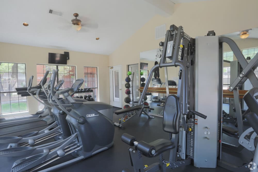 Fitness center at Shadow Ridge Apartments in El Paso, Texas