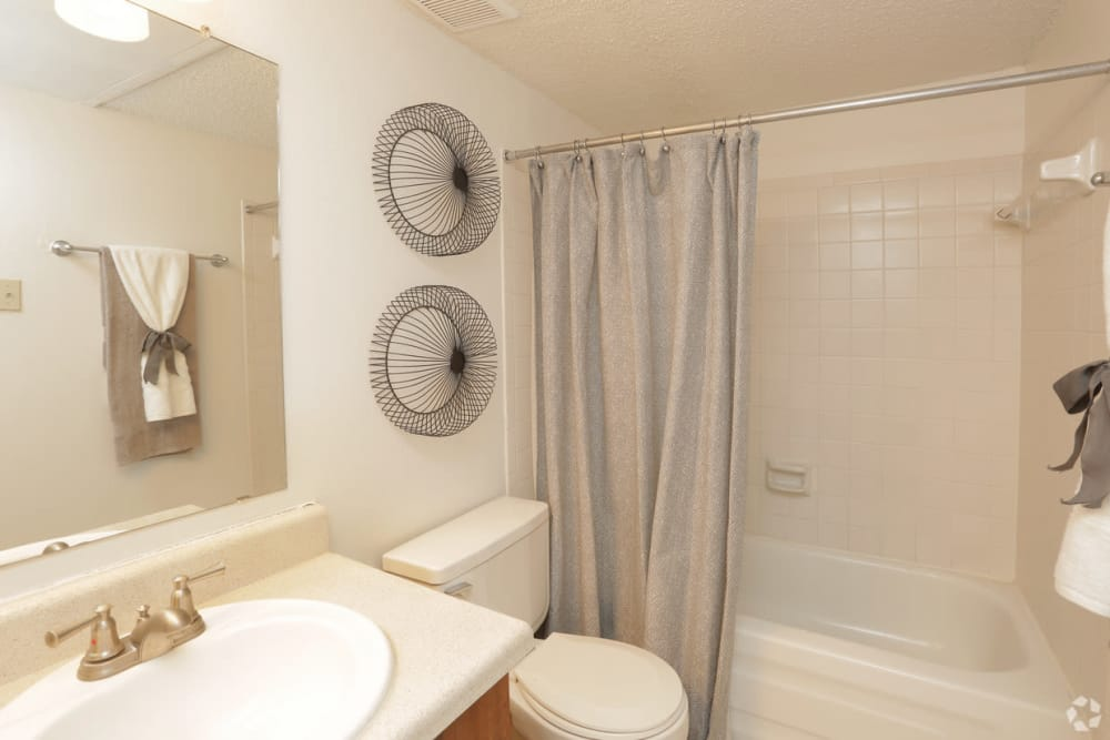 Bathroom at Double Tree Apartments in El Paso, Texas
