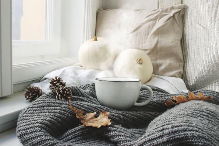 Coffee in autumn