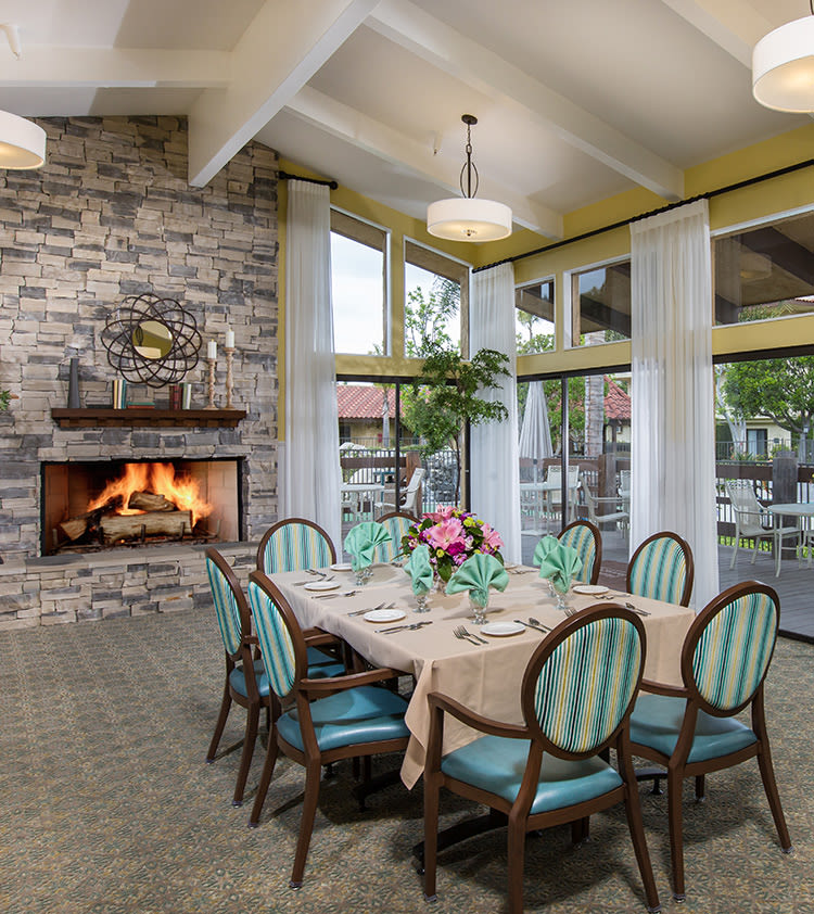 Dining Room at Huntington Terrace in Huntington Beach, California