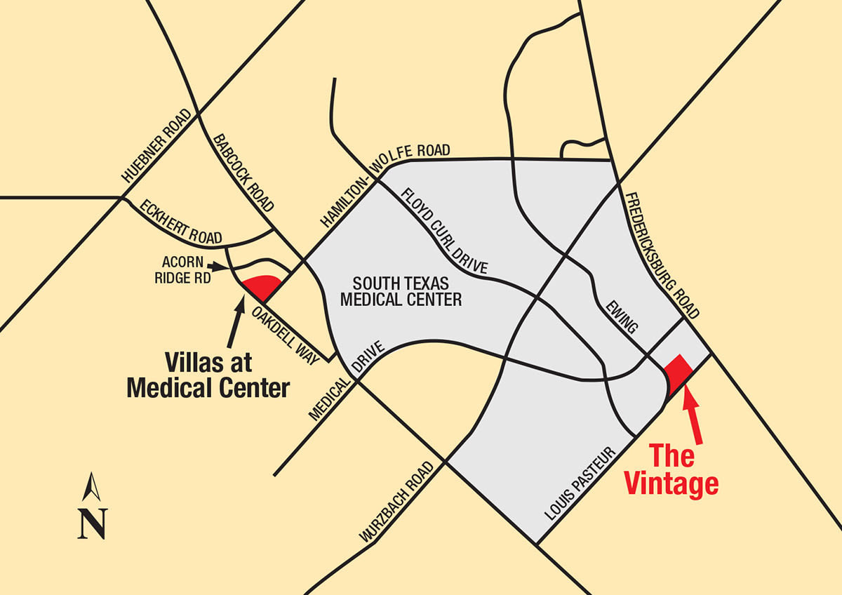 Map of The Vintage