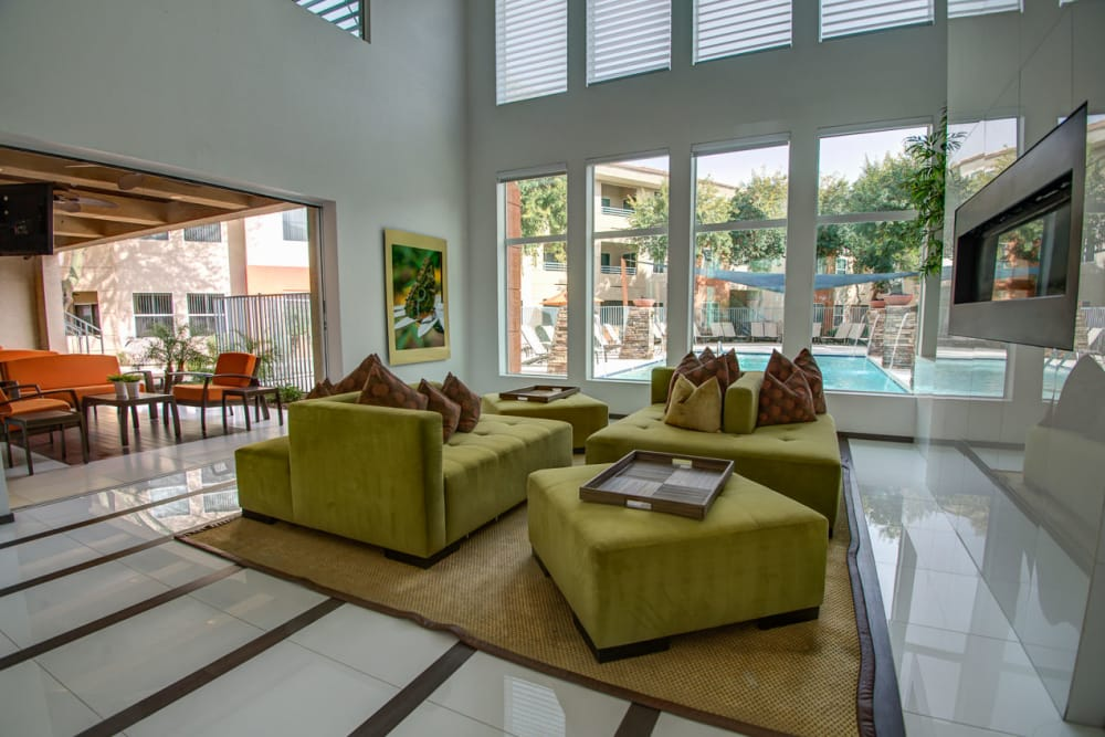 Great room from first floor at Sage Luxury Apartment Homes in Phoenix, Arizona
