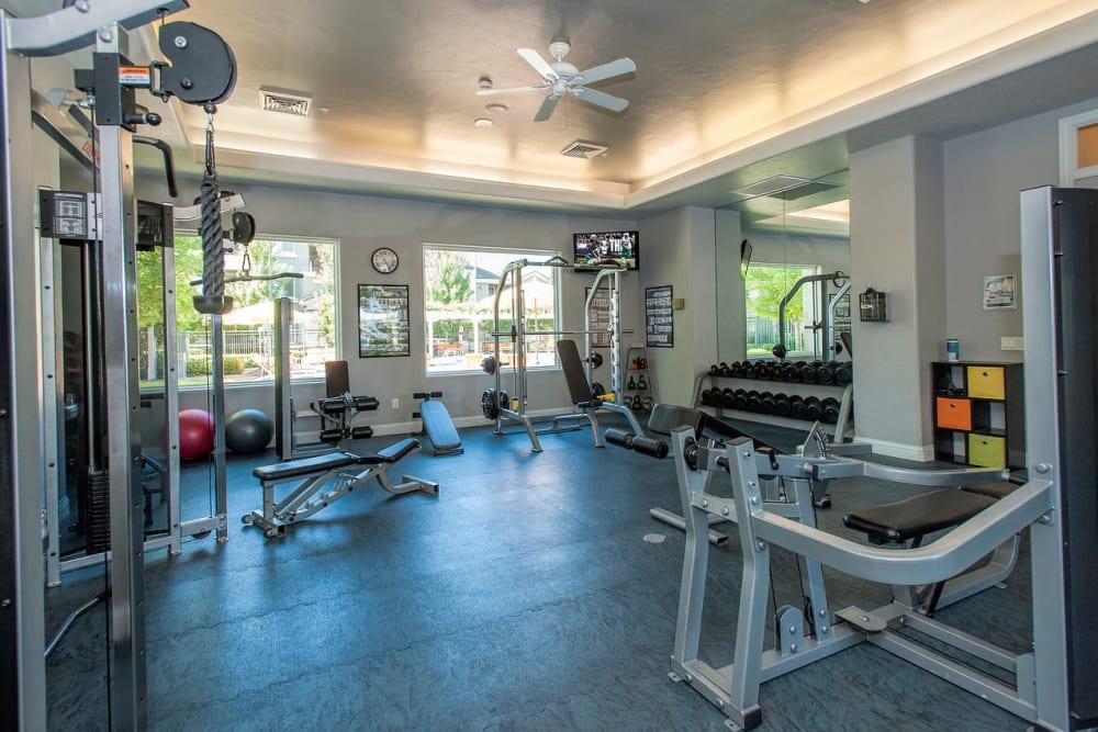 Spacious fitness center at The Artisan Apartment Homes in Sacramento, California