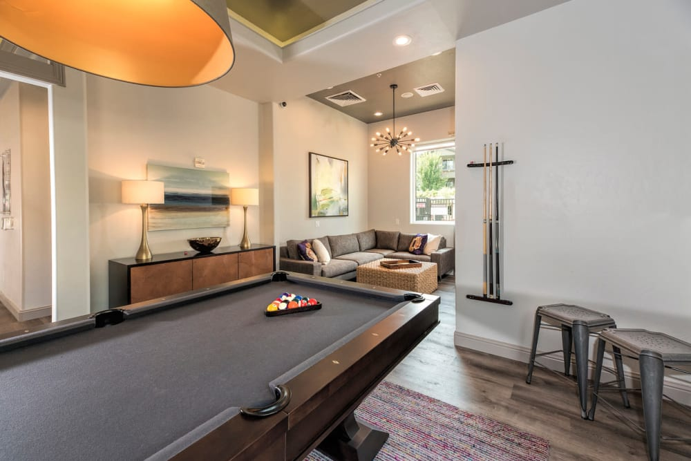 Extensive clubhouse at The Artisan Apartment Homes in Sacramento, California