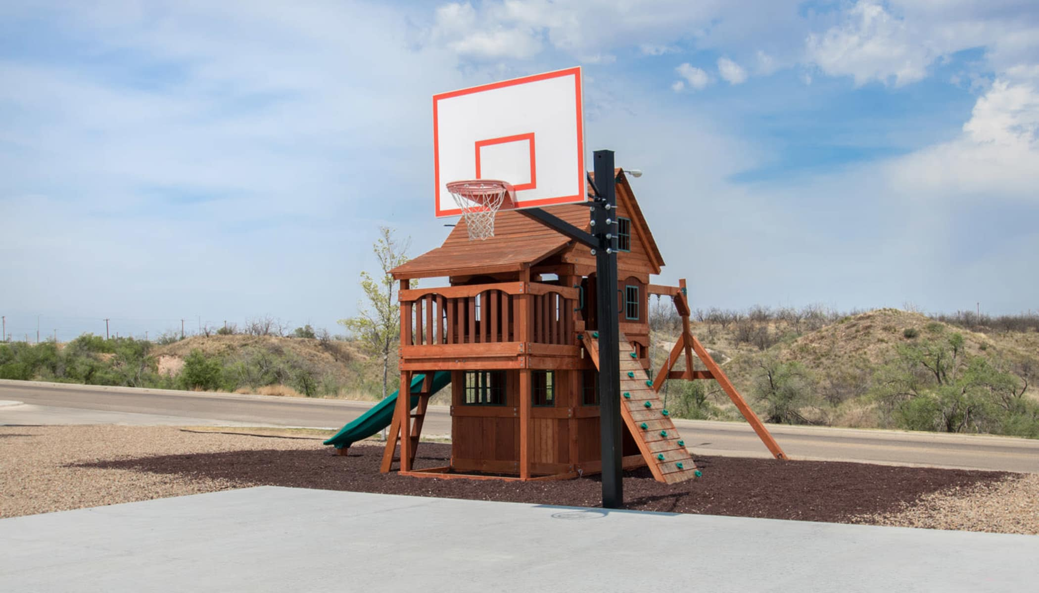 Basketball court at The Reserves at Brookside in Borger, TX