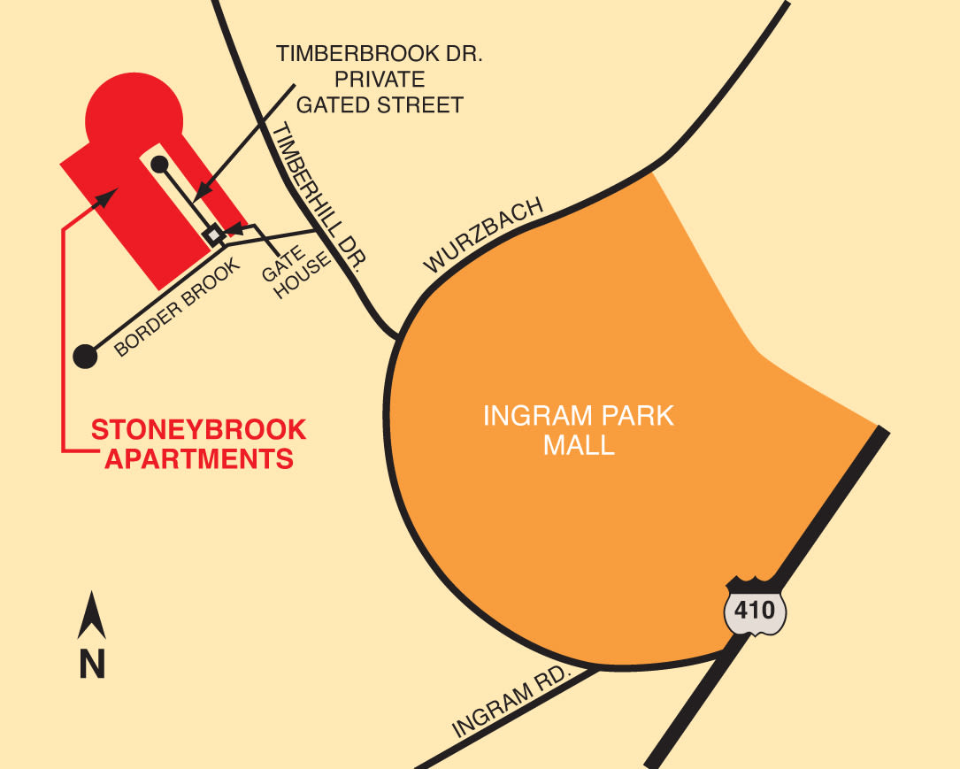 Map of Stoneybrook Apartments & Townhomes