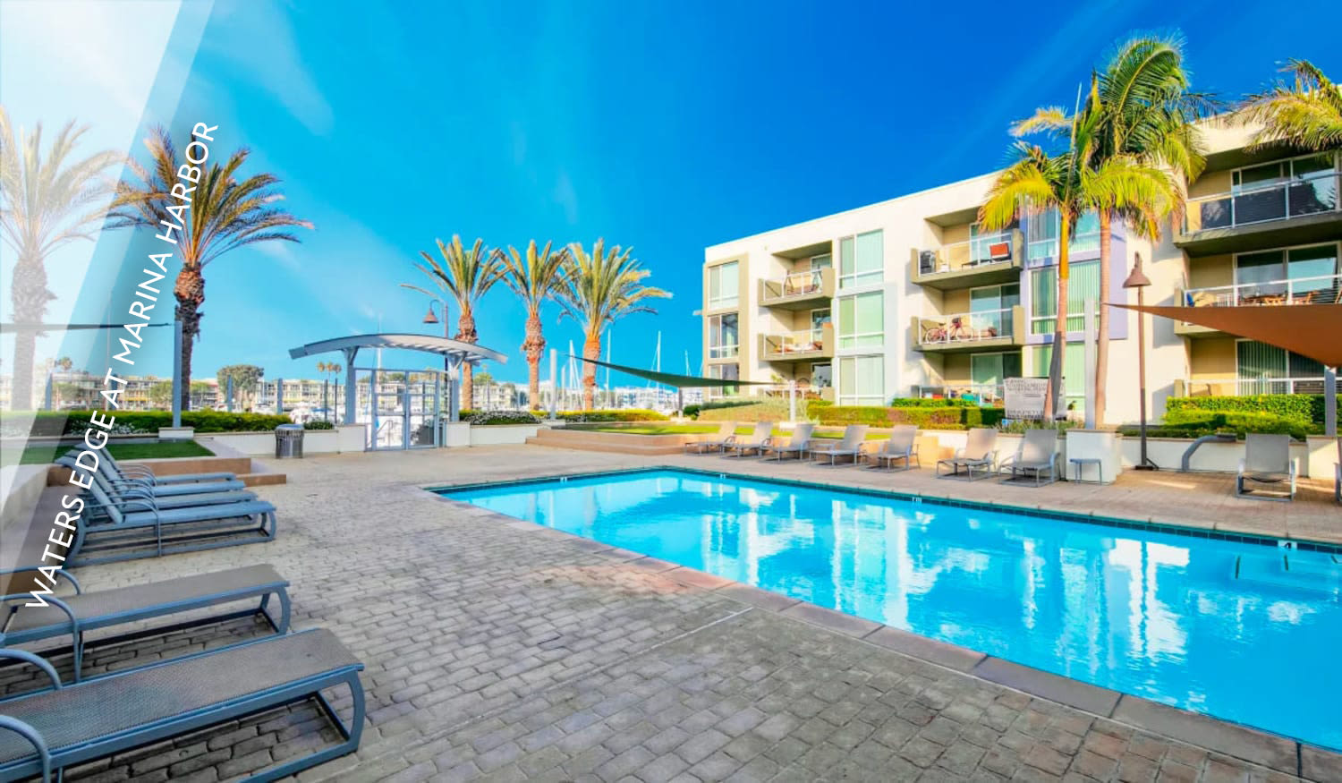 View the Waters Edge at Marina Harbor luxury waterside apartment community by E&S Ring Management Corporation in Los Angeles, California