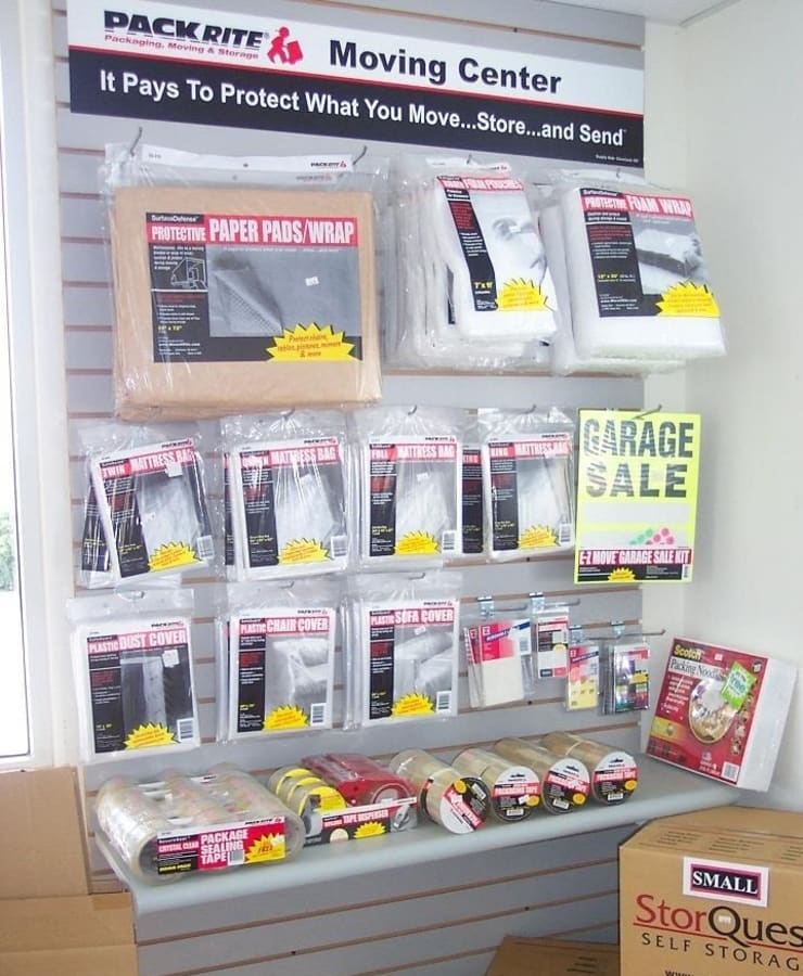 Packing supplies available at StorQuest RV and Boat Storage in Moreno Valley, California