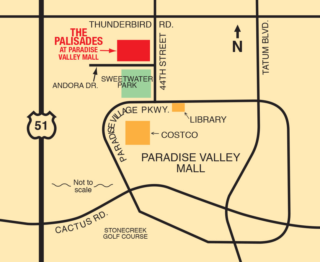 Map of The Palisades at Paradise Valley Mall