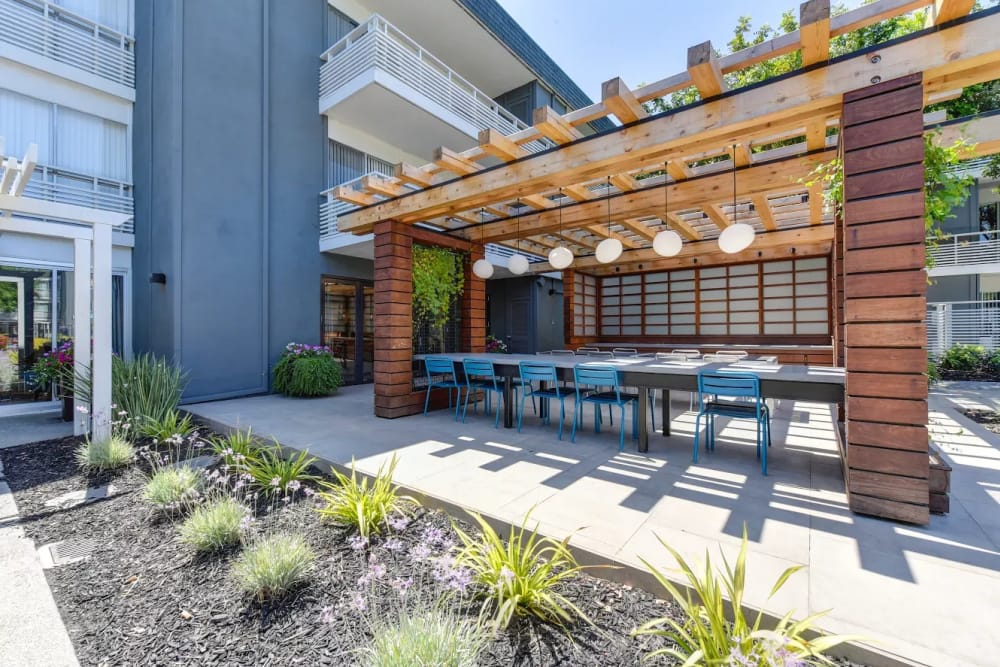 Outdoor seating at Citra in Sunnyvale, California
