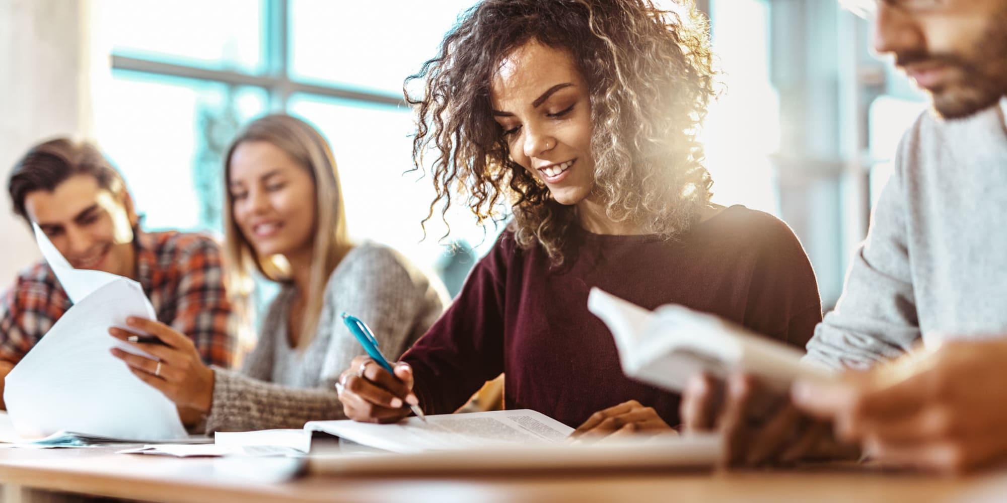 Students in class near Casa Granada in Los Angeles, California