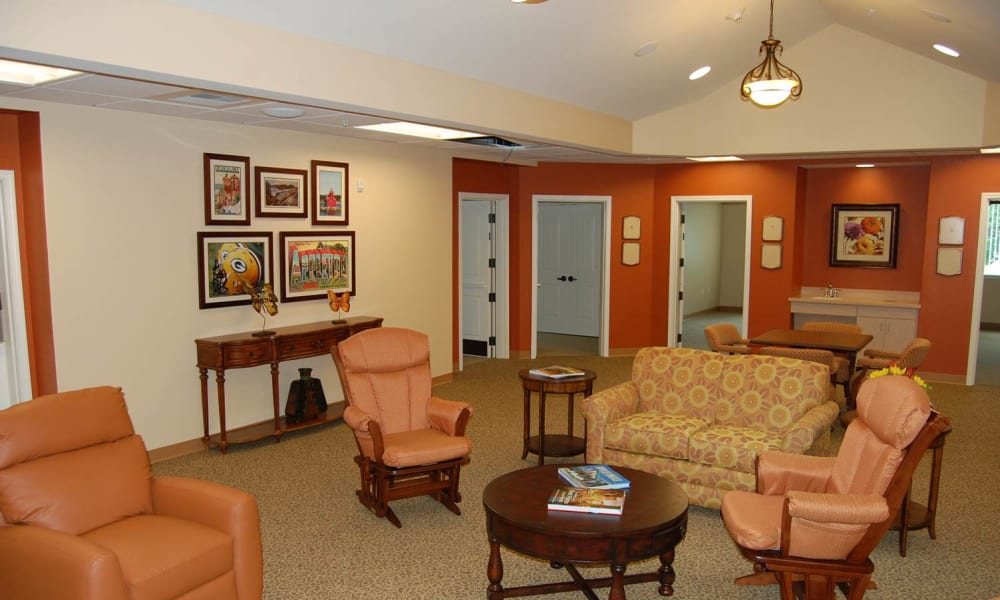 Memory Care community room at Touchmark on West Century in Bismarck, North Dakota