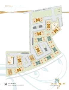 Site Map of Sage Luxury Apartment Homes