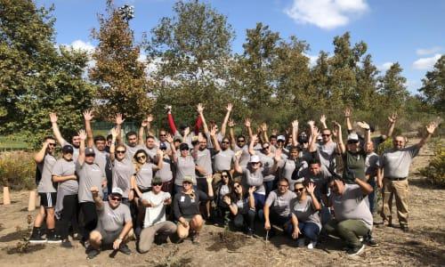 The Sequoia team at a giving back to the community event near Venu at Galleria Condominium Rentals in Roseville, California