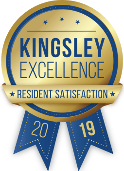 Pointe West Apartment Homes in West Des Moines, Iowa received a Kingsley Excellence Residents Satisfaction 2019 award