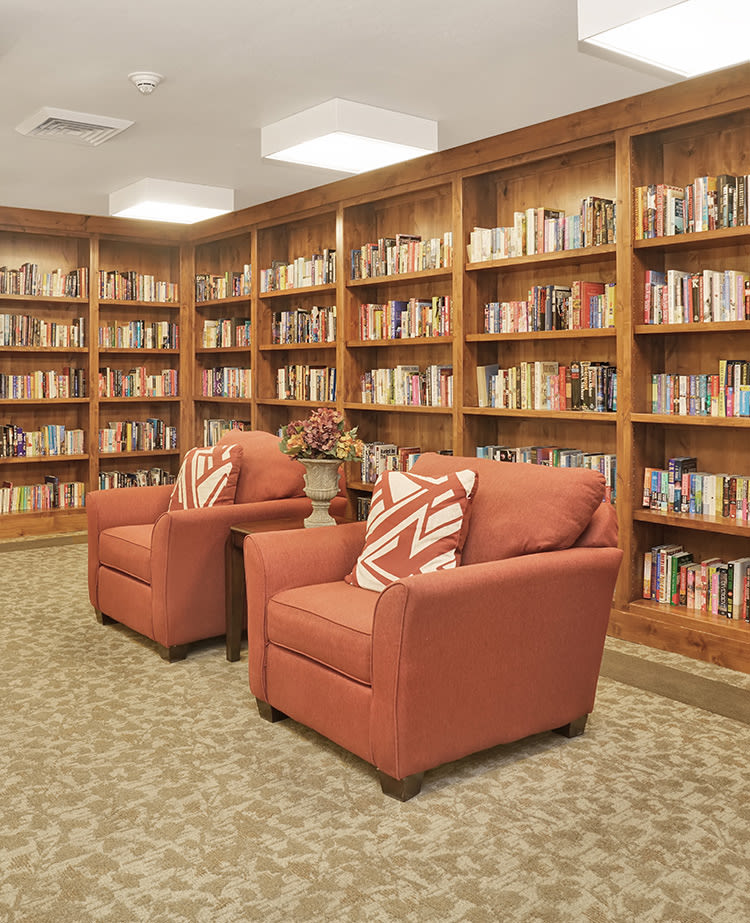 Library at Chancellor Gardens in Clearfield, Utah