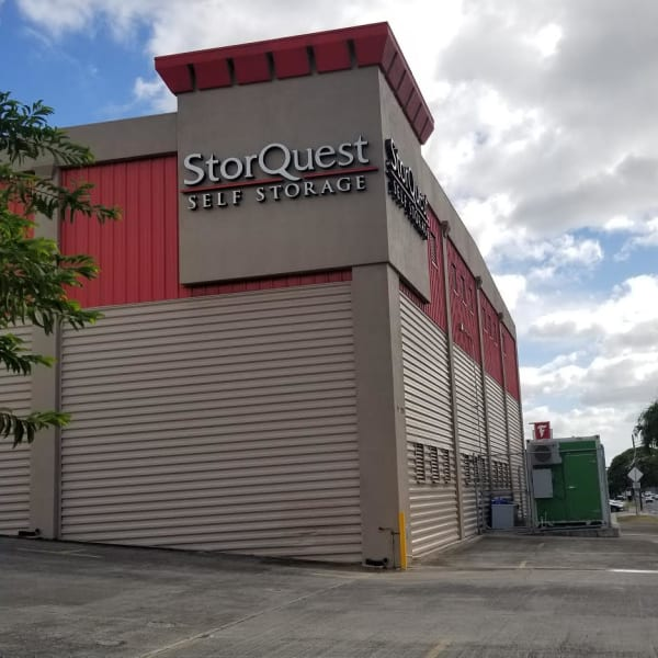 The exterior of StorQuest Self Storage in Waipahu, Hawaii