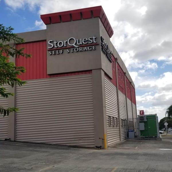 The exterior of StorQuest Self Storage in Waipahu, Hawaii