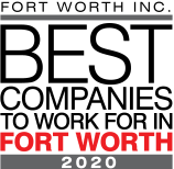 2020's Best Companies to Work For in Fort Worth award for Olympus Property in Fort Worth, Texas