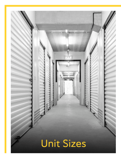 View the unit sizes and prices at Storage 365 in Garland, Texas
