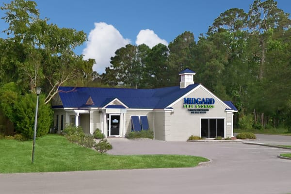 Exterior of Midgard Self Storage in Pawleys Island, South Carolina