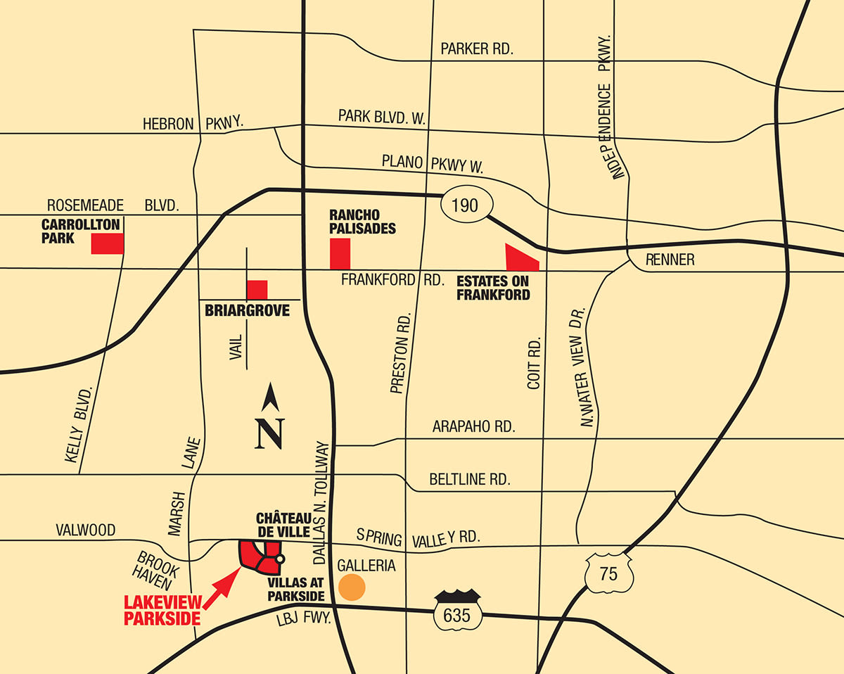 Map of Lakeview at Parkside