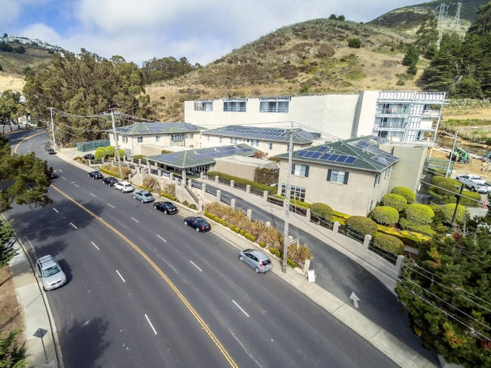 Street view at Pacifica Senior Living Mission Villa in Daly City, California