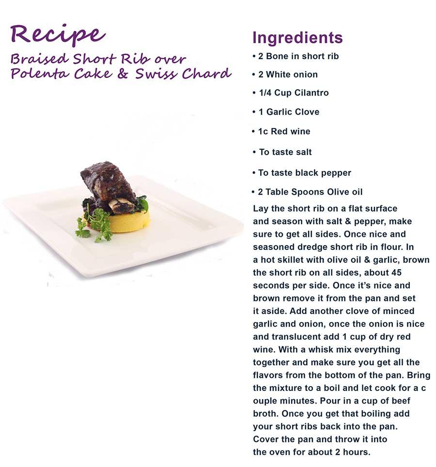 Braised short rib recipe