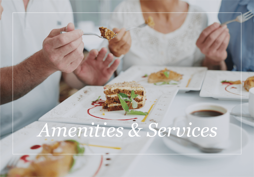 Amenities and services at Pennington Gardens in Chandler, Arizona